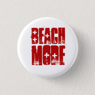 Strand-Modus-Strand-Art-Knopf Runder Button 3,2 Cm