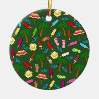 Strand-Muster Keramik Ornament