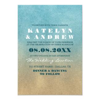 Strand Ombre Hochzeits-Einladung 12,7 X 17,8 Cm Einladungskarte