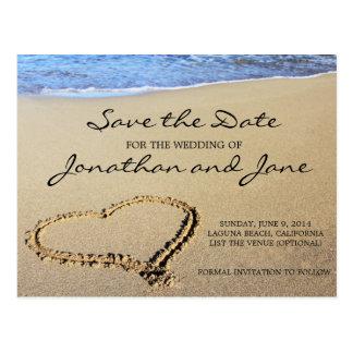 Strand-Ozean, der Save the Date Wedding ist Postkarte