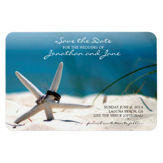 Strand-Ozean-Hochzeits-RingeStarfish Save the Date Magnet