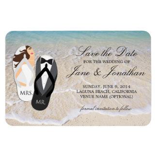 Strand-Ozean-tropische Hochzeit Deluxe Save the Magnet