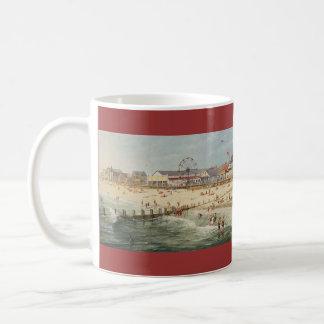 """Strand-Panorama Pauls McGehee """"Rehoboth - 1925"""" Tasse"""