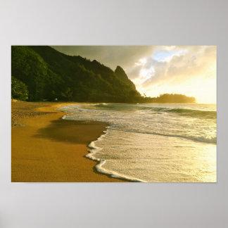 Strand-Plakat Kauai-Brandungs-Co. Haena Poster
