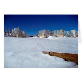 Strand-Raum-Gruß-Karte Snowy Hamptons Karte