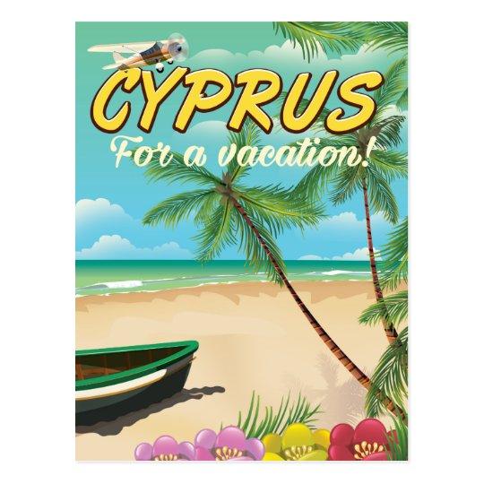 Strand-Reiseplakat Zyperns Vintages Postkarte
