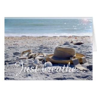 Strand, Sandalen, Ozean, sonnen leere Karte