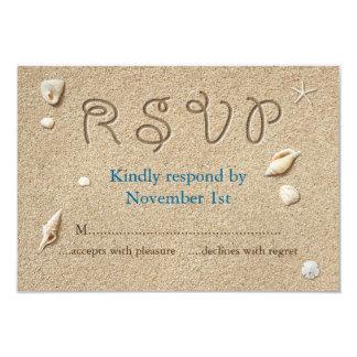 Strand Sandy Toes salziges Küsse UAWG 8,9 X 12,7 Cm Einladungskarte