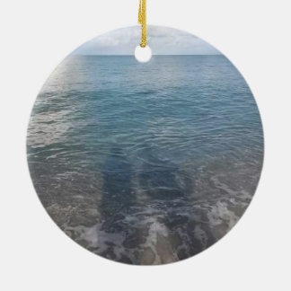 Strand-Schatten-Kreis-Verzierung Rundes Keramik Ornament