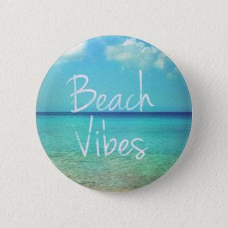 Strand-Schwingungen Runder Button 5,1 Cm