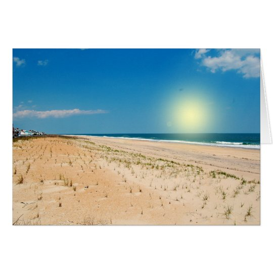Strand-Sonnenaufgang - notecard Karte
