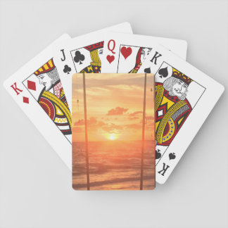 Strand-Sonnenaufgang Spielkarten