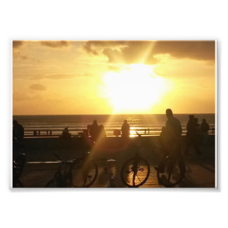 Strand-Sonnenuntergang Fotodruck