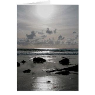 Strand-Sonnenuntergang Grußkarte