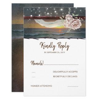 Strand-Sonnenuntergang-Hochzeit UAWG Karte