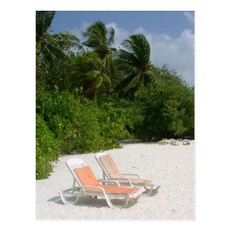 Strand-Stühle Postkarte
