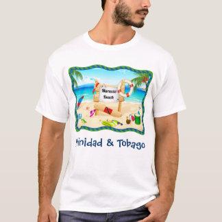 Strand-Szene Trinidad und Tobagos Maracas T-Shirt
