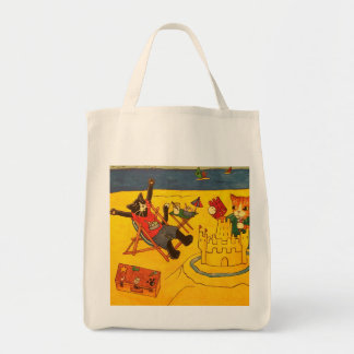 Strand-Tageskatzen Einkaufstasche