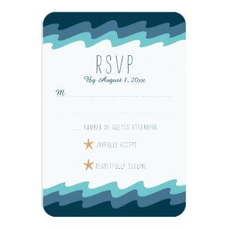 Strand Themed UAWG Karte - blaue Welle 8,9 X 12,7 Cm Einladungskarte