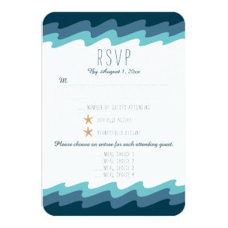 Strand Themed UAWG Karte - blaue Welle mit 8,9 X 12,7 Cm Einladungskarte