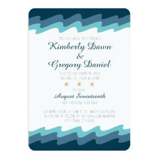 Strand-themenorientierte Hochzeits-Einladung - 12,7 X 17,8 Cm Einladungskarte
