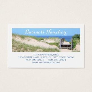 Strand tritt Visitenkarten Visitenkarte