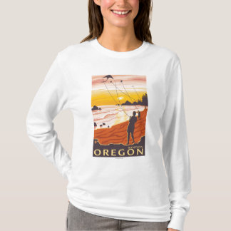 Strand u. Drachen - Bandon, Oregon T-Shirt