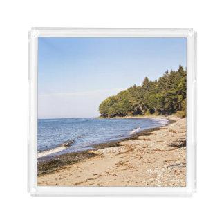 Strand-Ufer-Linie LandschaftsServiertablett Acryl Tablett