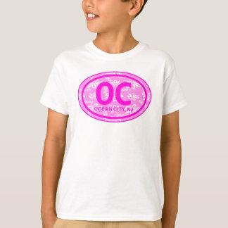 STRAND-UmbauHoodie der OC-Ozean-Stadt-NJ rosa T-Shirt