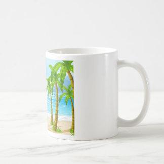 Strand und Boot Kaffeetasse