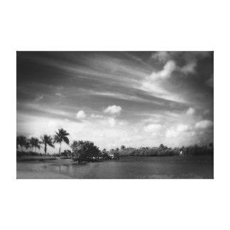 Strand und Himmel Gespannte Galeriedrucke