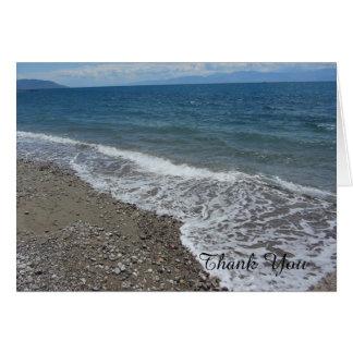 Strand und Ozean danken Ihnen Karte