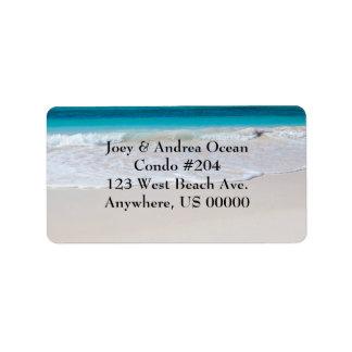 Strand-und Ozean-kundenspezifische Adressaufkleber
