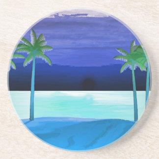 Strand-und Palmen Untersetzer