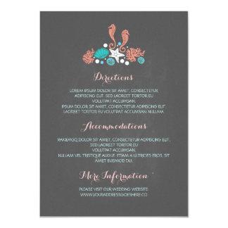 Strand-Unterwasserschatz-Kreide-Hochzeits-Details 11,4 X 15,9 Cm Einladungskarte