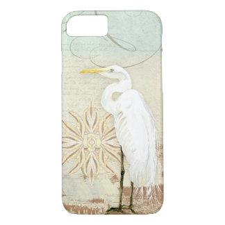 Strand-Vogel-Seekunst-großer Reiher-Küstenufer iPhone 8/7 Hülle