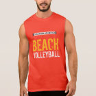 STRAND-VOLLEYBALL ÄRMELLOSES SHIRT