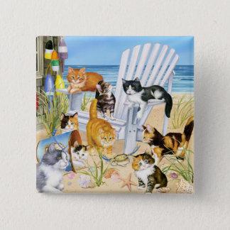 Strand-wertlosKätzchen! Quadratischer Button 5,1 Cm