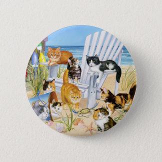 Strand-wertlosKätzchen! Runder Button 5,7 Cm