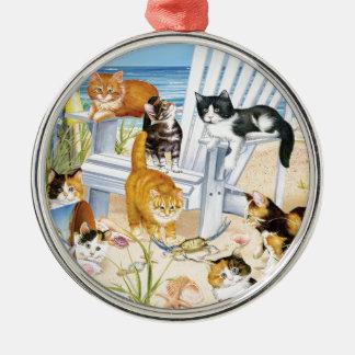 Strand-wertloskätzchen-Verzierung Silbernes Ornament