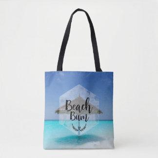 Strand-wertlostypographie - Regenschirm auf Tasche