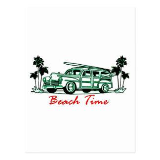 Strand-Zeit Postkarte