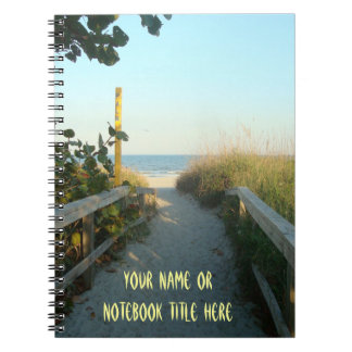 Strand-Zugang personalisiert Notizblock
