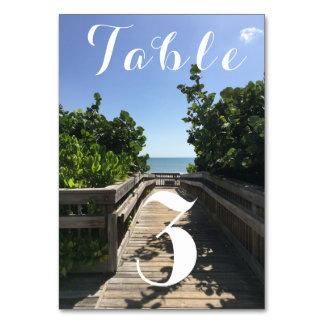 Strand-Zugangs-Tischnummer Karte