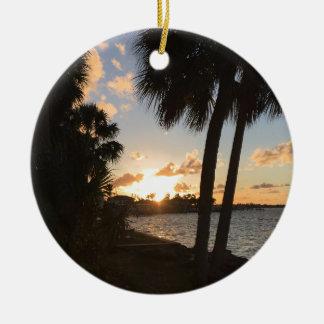 Strand-Zuhause Rundes Keramik Ornament