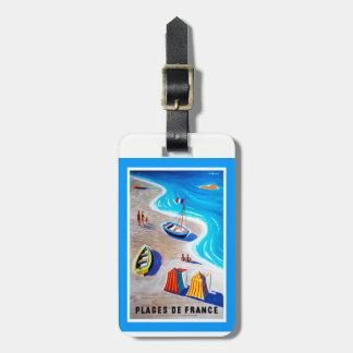 Strände von Frankreich-Gepäckanhänger Gepäckanhänger