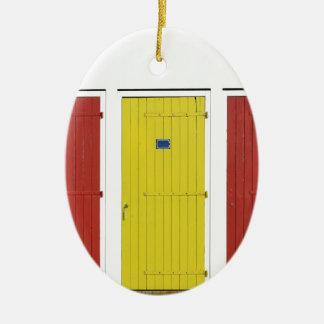 Strandhütten in Vendée in Frankreich Ovales Keramik Ornament