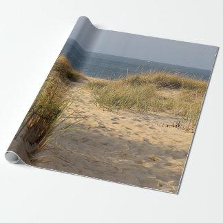 Strandzaun in den Sanddünen Geschenkpapier