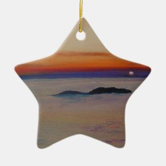 Strang-MIT Sonnenuntergang Keramik Stern-Ornament