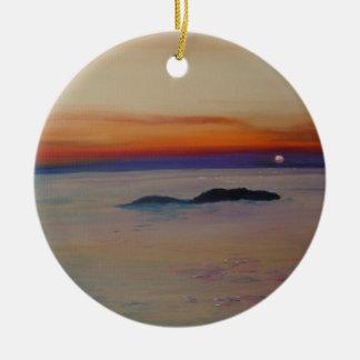 Strang-MIT Sonnenuntergang Rundes Keramik Ornament
